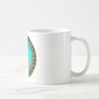 Runes - Thors Hammer - Teal Coffee Mug
