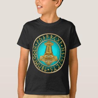 Runes - Thors Hammer - Teal T-Shirt