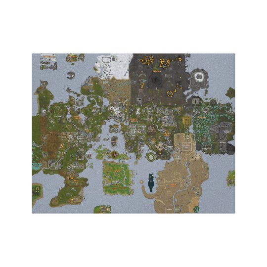 Runescape Map on Canvas