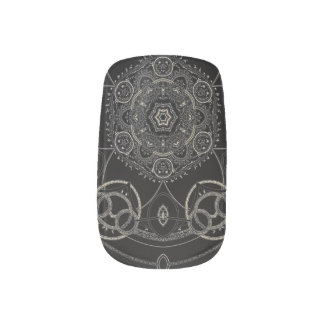 Runic Silver Mandala Minx Nail Art