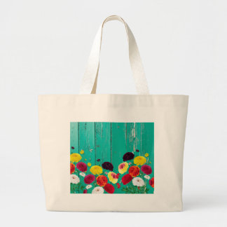 Runinculus and green fence large tote bag