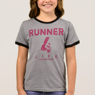 Runner 4 Life - Pink Ringer T-Shirt