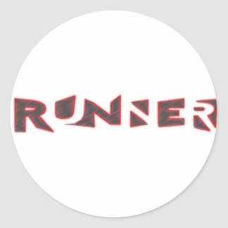 Runner Classic Round Sticker