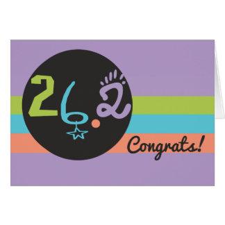 Runner Congrats Eclectic 26.2 Marathon Card