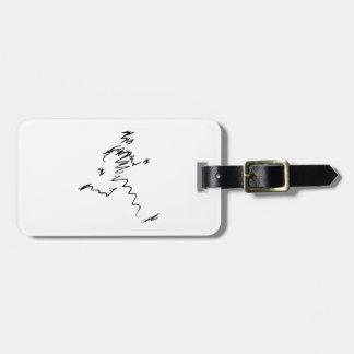 Runner cool illustration luggage tag