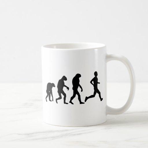 runner evolution icon coffee mugs