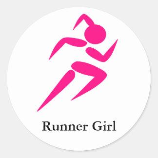Runner Girl! Round Sticker