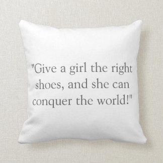 Runner Girl Throw Pillow