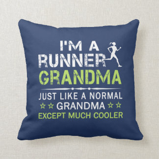 RUNNER GRANDMA THROW PILLOW