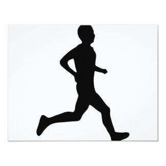 "runner icon 4.25"" x 5.5"" invitation card"