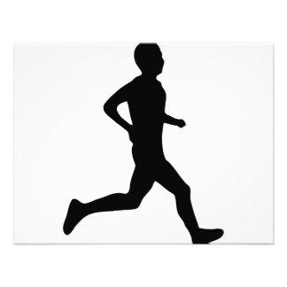 runner icon personalized invitation