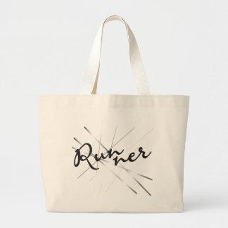Runner in Abstract Jumbo Tote Bag