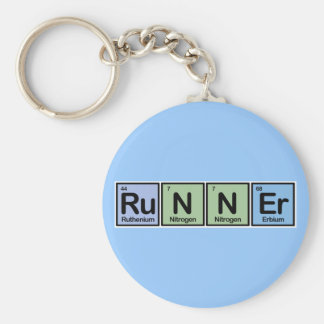Runner made of Elements Keychain