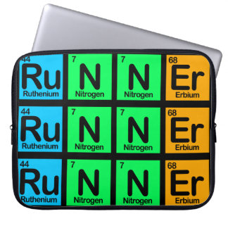 Runner Made of Elements Laptop Sleeve