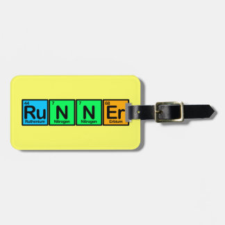 Runner Made of Elements Luggage Tag