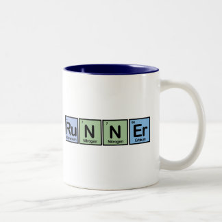Runner made of Elements Two-Tone Coffee Mug