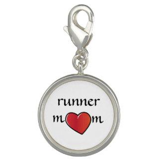 Runner Mom Red Heart Design Charm