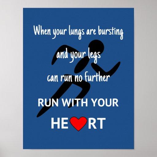 Runner motivational quote sport poster