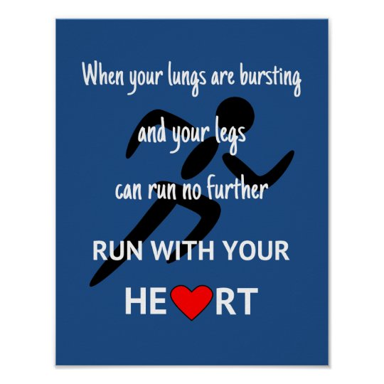 Runner motivational quote sport poster
