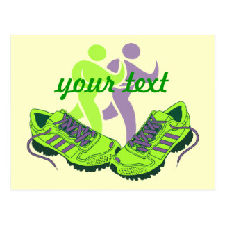 Runner Personalized Postcard