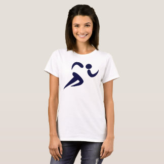 Runner Racer Navy Blue Graphic Women's T-Shirt
