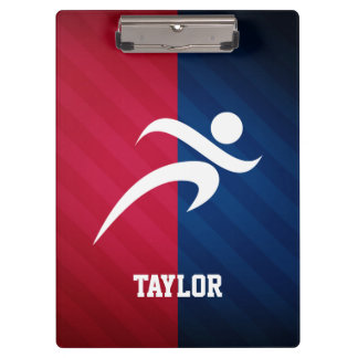 Runner; Red, White, and Blue Clipboards