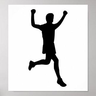 Runner running poster