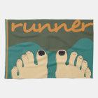 Runner Toes Kitchen Towel