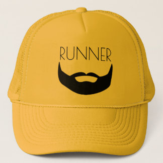 RUNNER WITH BEARD TRUCKER HAT