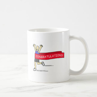 Runner with Congratulations banner. Coffee Mug