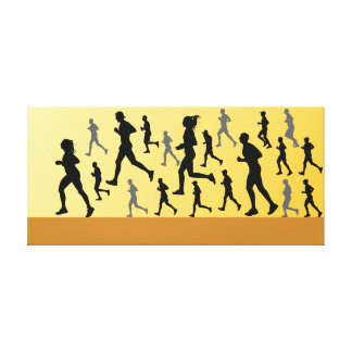 Runners Canvas Print