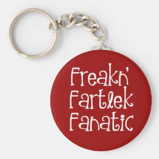 Runners Freakn' Fartlek Fanatic Basic Round Button Keychain