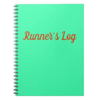 Runner's Log Running Notebook Blue Spiral Journal