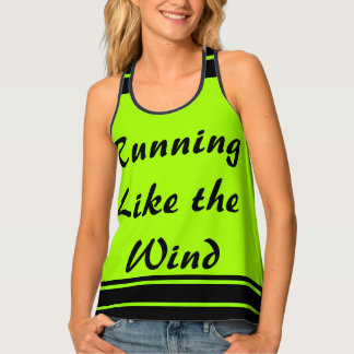 Runners Running Lime Black Sporty CricketDiane Tank Top