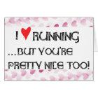 Runner's Valentine Day Card I heart (love) Running