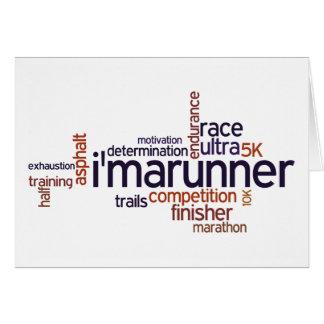 Runner's Words Card