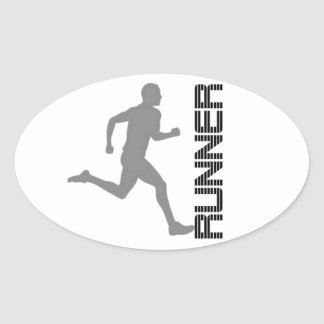 Runners Zone Oval Sticker