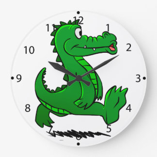 Running alligator large clock