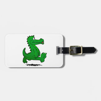 Running alligator luggage tag