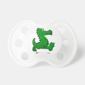 Running alligator pacifier