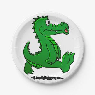 Running alligator paper plate