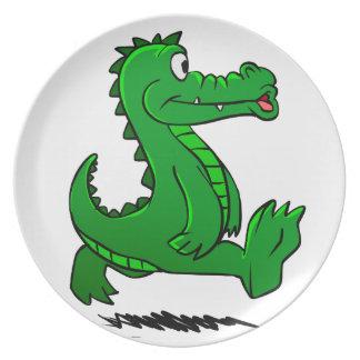 Running alligator plate