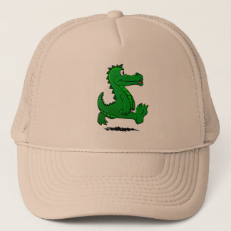 Running alligator trucker hat