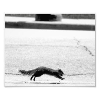 Running and Huffing! Photographic Print