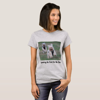 Running As Fast As We Can Two Cute Dogs T-Shirt