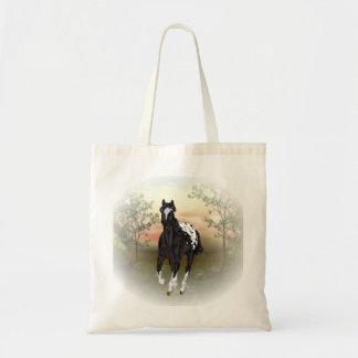 Running Black Appaloosa Horse