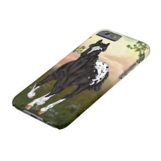 Running Black Appaloosa Horse Barely There iPhone 6 Case