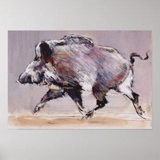 Running boar 1999 poster