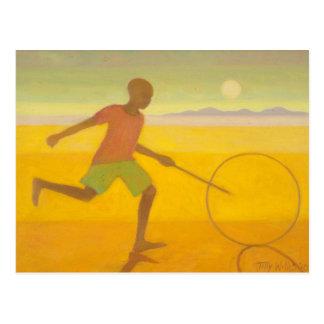 Running Boy 2010 Postcard