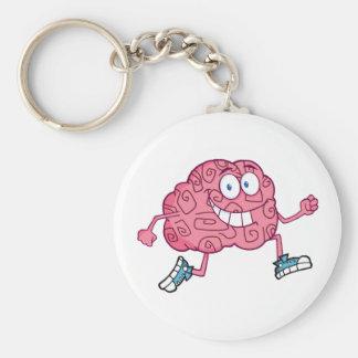 Running Brain Cartoon Character Keychain